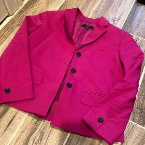 Ann Taylor 0P cropped pink blazer